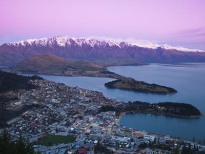 The Remarkables, Lake Wakatipu and Queenstown, Central Otago, South Island, New Zealand by Doug Pearson