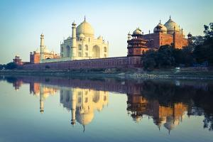 The Taj Mahal Reflected in the Yamuna River by Doug Pearson