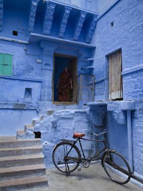 Traditional Blue Architechture, Jodhpur, Rajasthan, India by Doug Pearson