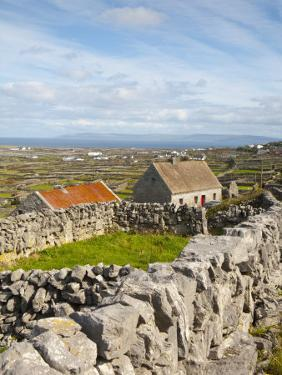 Traditional Thatched Roof Cottage, Inisheer, Aran Islands, Co, Galway, Ireland by Doug Pearson