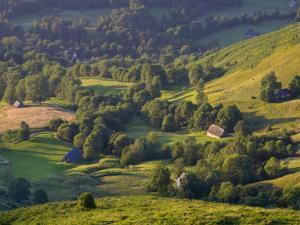 Valley Floor at Dawn, Grange Sous La Neige, Midi-Pyrenees, France by Doug Pearson
