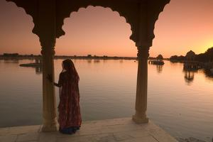 Woman in Traditional Dress, Jaisalmer, Western Rajasthan, India, Asia by Doug Pearson