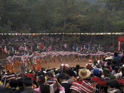 Gathering of Minority Groups from Yunnan for Torch Festival, Yuannan, China