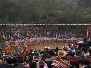 Gathering of Minority Groups from Yunnan for Torch Festival, Yuannan, China by Doug Traverso