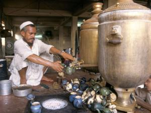 Tea Stall, Peshawar, North West Frontier Province, Pakistan by Doug Traverso