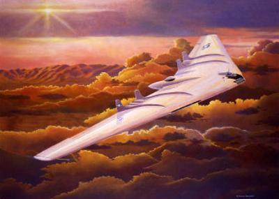 Northrup B49 Flying Wing by Douglas Castleman