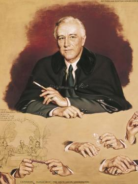 "Study of Franklin Delano Roosevelt for the Painting ""Big Three at Yalta"" by Douglas Chandor"