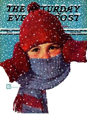 """Bundled Up,"" Saturday Evening Post Cover, January 14, 1939 by Douglas Crockwell"