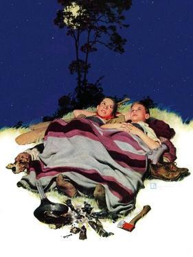"""Camping Out,""August 13, 1938 by Douglas Crockwell"
