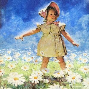 """Daisy Among Daisies,"" August 21, 1943 by Douglas Crockwell"