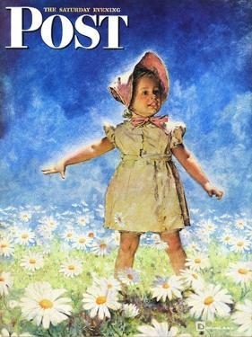 """Daisy Among Daisies,"" Saturday Evening Post Cover, August 21, 1943 by Douglas Crockwell"