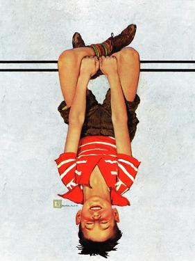 """""""Hanging Upside Down,"""" April 20, 1940 by Douglas Crockwell"""