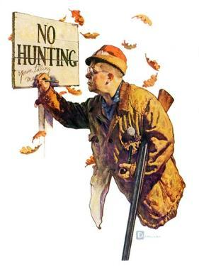 """'No Hunting',""October 28, 1939 by Douglas Crockwell"