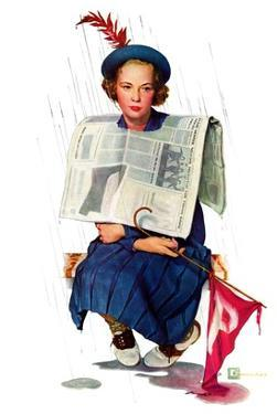 """Rainy Football Game,""November 5, 1938 by Douglas Crockwell"