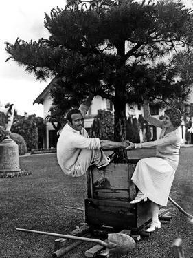 Douglas Fairbanks and sa femme Mary Pickford en, 1923