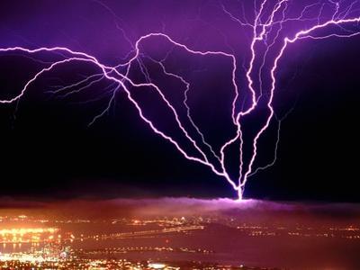 Lightning over San Francisco