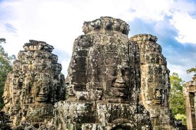 Angkor Thom, Bayon Temple, Angkor, Cambodia by Douglas Peebles