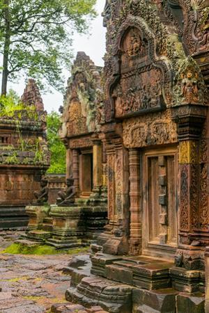 Banteay Srei, Angkor, Siem Reap, Cambodia by Douglas Peebles