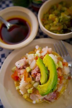 Ceviche, El Pitillal, Puerto Vallarta, Jalisco, Mexico by Douglas Peebles