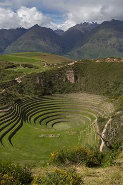Circular Inca Terraces of Moray, Cusco Region, Urubamba Province, Peru by Douglas Peebles