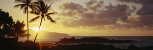 Hawaii Islands, Oahu, Sunset in Island by Douglas Peebles
