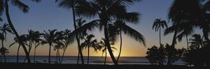 Hawaii Islands, Oahu, View of Beautiful Sunset of Sea by Douglas Peebles