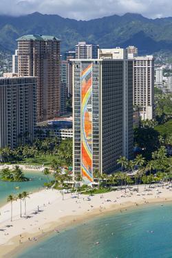 Hawaiian beachfront, Waikiki, Honolulu, Oahu, Hawaii by Douglas Peebles