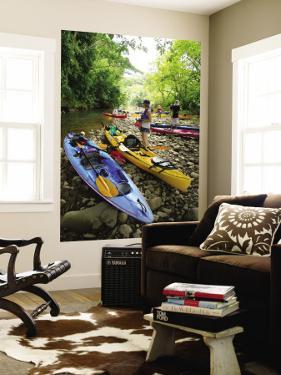 Kayaking on Kalihiwai Stream, Hawaii, USA by Douglas Peebles