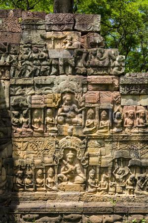 Leper King Terrace, Angkor Thom, Angkor, Cambodia by Douglas Peebles