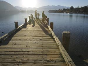 Pier, Lake Wanaka, South Island, New Zealand by Douglas Peebles