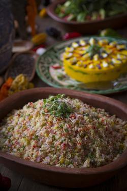 Quinoa Salad, Inca Terraces of Moray, Cusco Region, Peru by Douglas Peebles