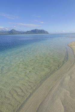 Sandbar, Kaneohe Bay, Oahu, Hawaii by Douglas Peebles