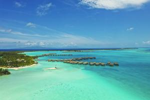 St. Regis Bora Bora Resort, Bora Bora, Society Islands, French Polynesia, South Pacific by Douglas Peebles