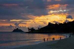 Sunrise, Kailua Beach, Kailua, Oahu, Hawaii by Douglas Peebles