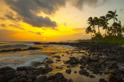 Sunset, Poipu, Kauai, Hawaii, USA by Douglas Peebles