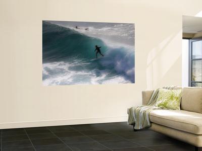 Surfing on Honolua Bay, Kapalua, Hawaii, USA by Douglas Peebles