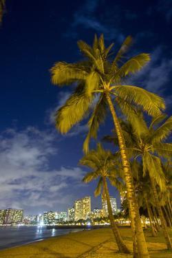 Twilight, Waikiki, Honolulu, Oahu, Hawaii by Douglas Peebles
