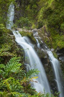 Waikani Waterfalls, Aka Three Bears, Hana Coast, Maui, Hawaii, USA by Douglas Peebles