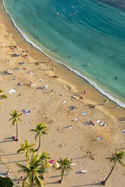 Waikiki Beach, Honolulu, Oahu, Hawaii by Douglas Peebles