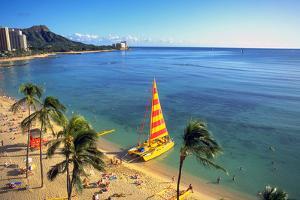 Waikiki, Oahu, Hawaii, USA by Douglas Peebles