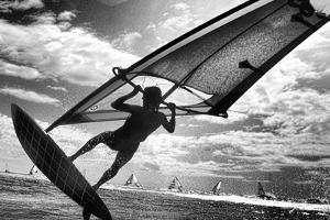 Windsurfing, Diamond Head, Oahu, Hawaii by Douglas Peebles