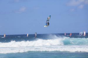 Windsurfing, Hookipa Beach Park, Maui, Hawaii, USA by Douglas Peebles