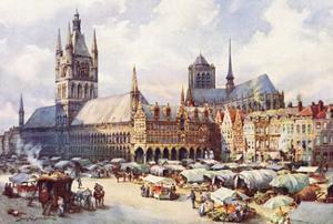 Ypres, Market Place C1914 by Douglas Snowdon