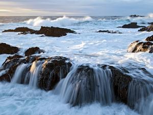 Waves Crashing O Rocks at Soberanes by Douglas Steakley