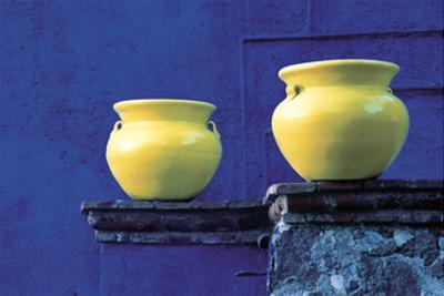 Yellow Pots, Blue Wall