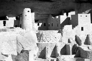 Cliff Palace Ruins BW by Douglas Taylor