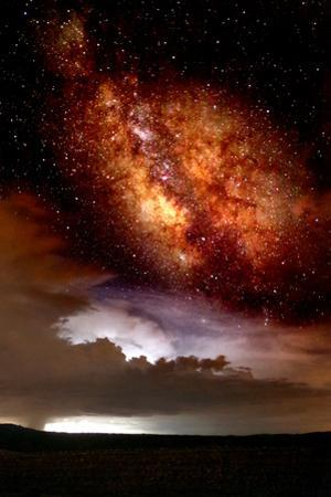 Milky Way and Thurderstorm by Douglas Taylor