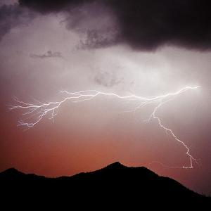 Mountian Lightning Sq by Douglas Taylor