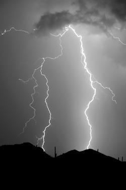 Summer Lightning BW by Douglas Taylor