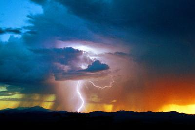 Sunset Thunderstorm by Douglas Taylor
